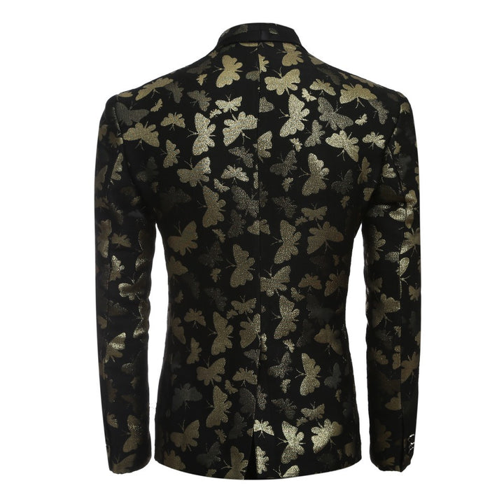 Men's Luxury Golden Floral Suit Jacket - Zorket