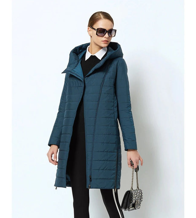 Men's Spring Thin Cotton Warm Padded Long Coat