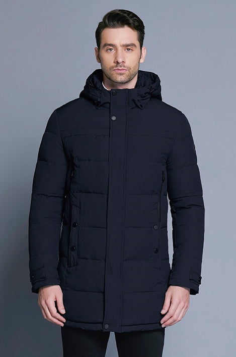 Men's Winter Casual Cotton Thick Soft Mid-Long Parka