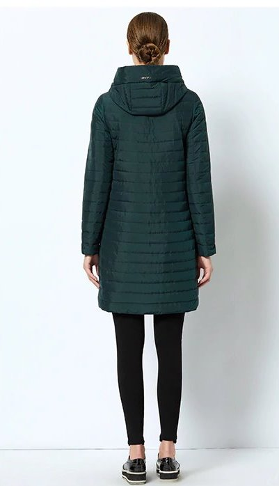 Women's Spring Windproof Thin Cotton Coat With Hood