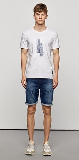 Men's Summer Cotton Patchwork Short-Sleeved T-Shirt