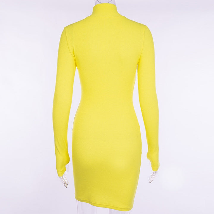 Women's Spring/Autumn Casual Long-Sleeved Sheath Dress