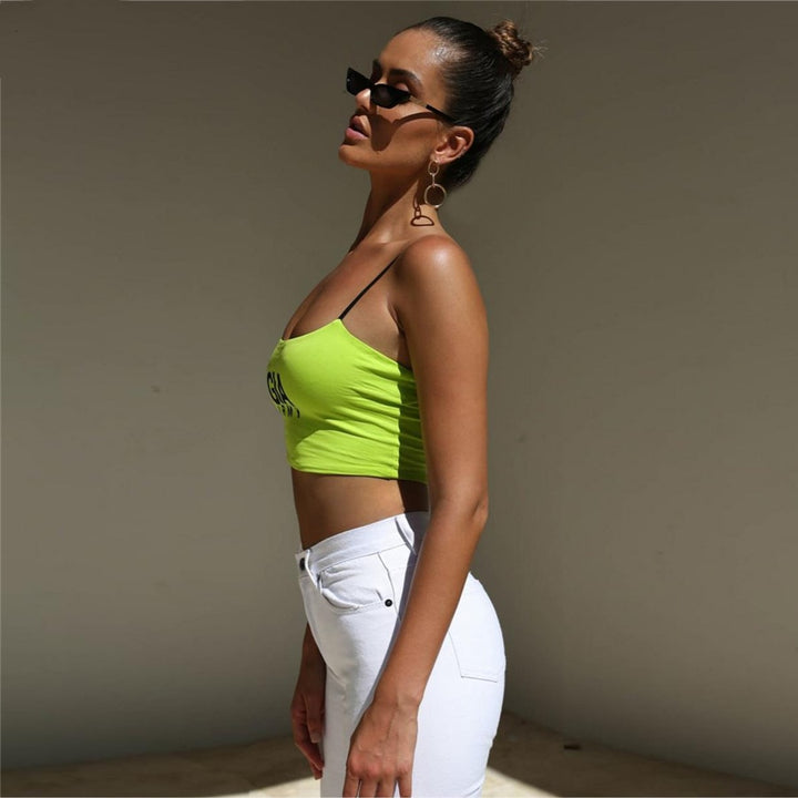 Women's Summer Sleeveless Strappy Cropped Tank Top