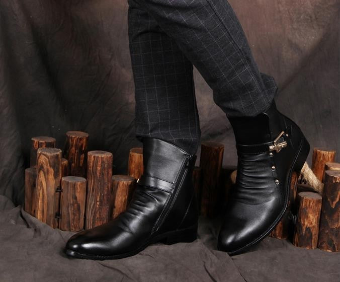 Men's Warm Retro Style Boots - Zorket