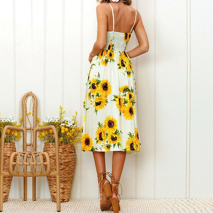 Women's Summer Vintage Floral Dress