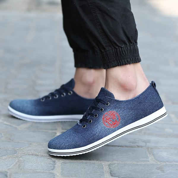 Loafers – Casual Canvas Low Heeled Loafers For Men | Zorket