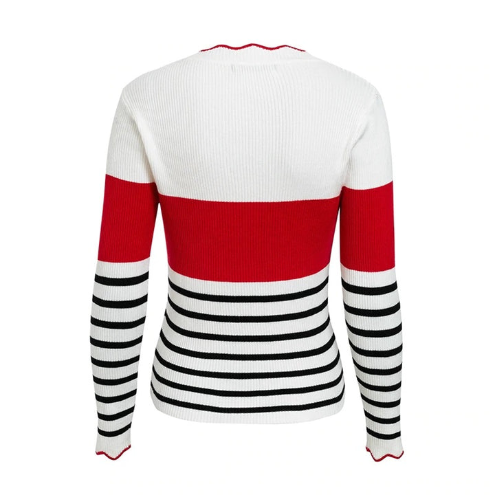 Women's Autumn/Winter O-Neck Stripe Sweater