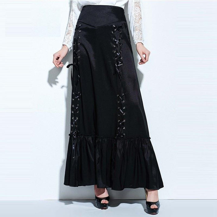 Women's Mid-Calf Long Vintage Gothic Skirt