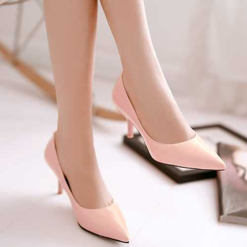 Female Casual Pointed Office Pumps - Zorket