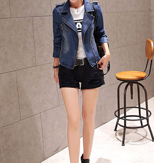 Jacket – Female Vintage Long Sleeved Denim Jacket | Zorket