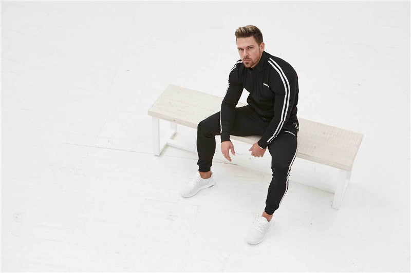 Men's Spring/Autumn Elastic Tracksuit | Men's Gym Set