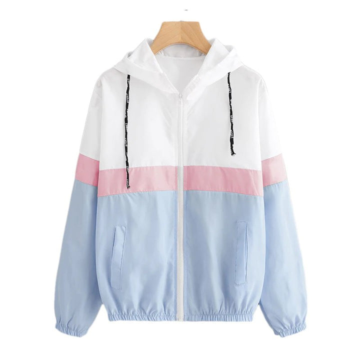 Women's Spring/Autumn Hooded Windbreaker