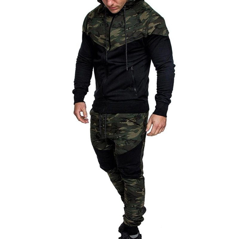Men's Autumn Casual Hooded Tracksuit