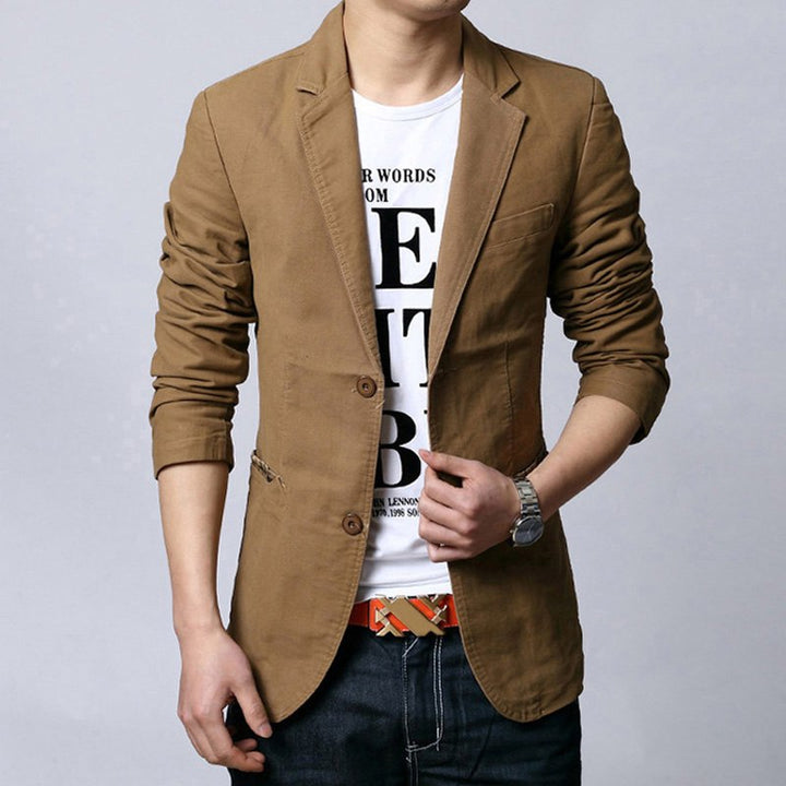 Men's Spring/Autumn Casual Single-Breasted Blazer