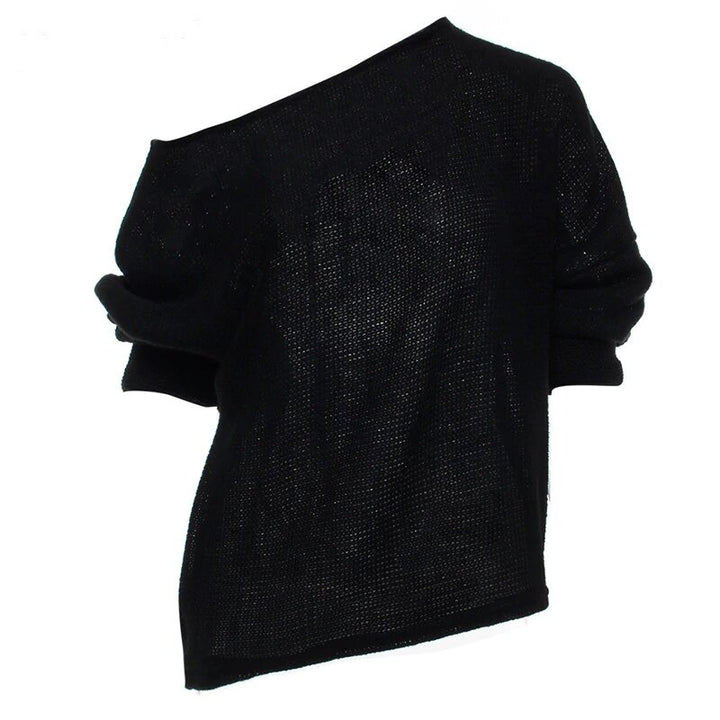 Women's Autumn/Winter Soft Off-Shoulder Loose Knitted Sweater