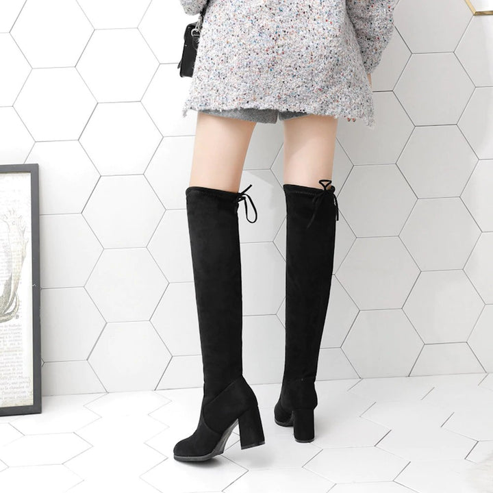 Women's Winter Warm High-Heeled Over-The-Knee Boots