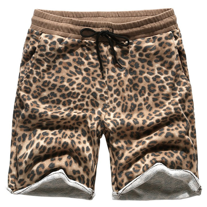 Shorts – Men's Casual Cotton Leopard Print Shorts | Zorket
