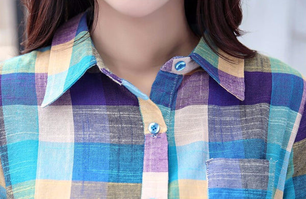 Shirt – Plaid Shirt Of Cotton | Zorket
