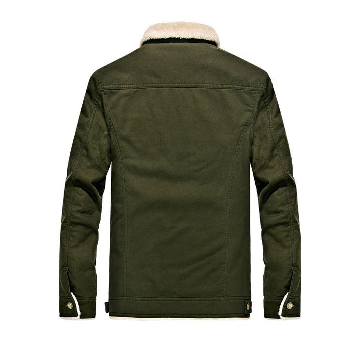 Men's Winter Warm Air Force Pilot Jacket With Fur Lining
