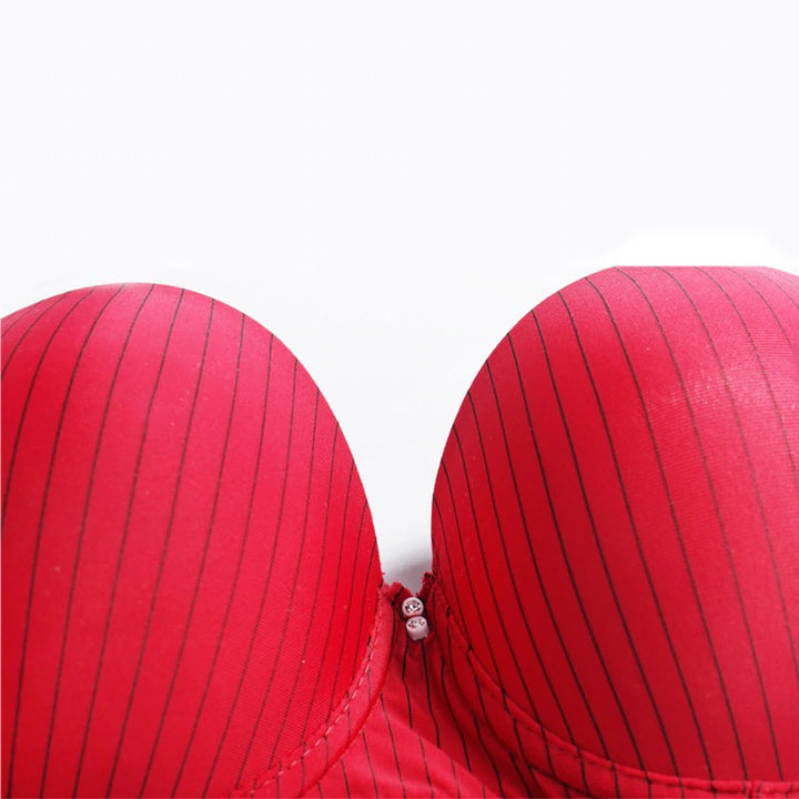 Women's Breathable Soft Bra With Thin Stripes