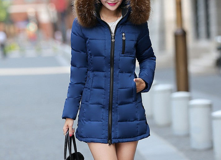 Women's Casual Solid Color Winter Coat - Zorket