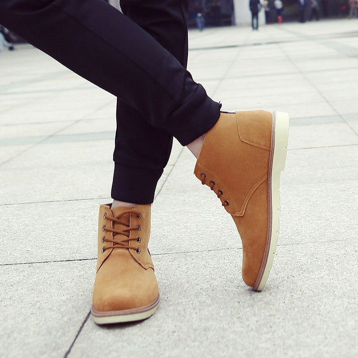 Men's Autumn/Winter Warm Casual Ankle Flat Boots