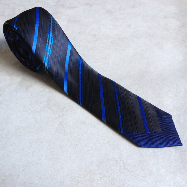 Stylish Slim Men's Tie With Contrast Knot - Zorket