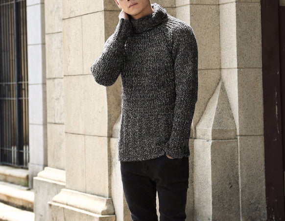 Men's Casual Warm Classic Turtleneck Sweater - Zorket