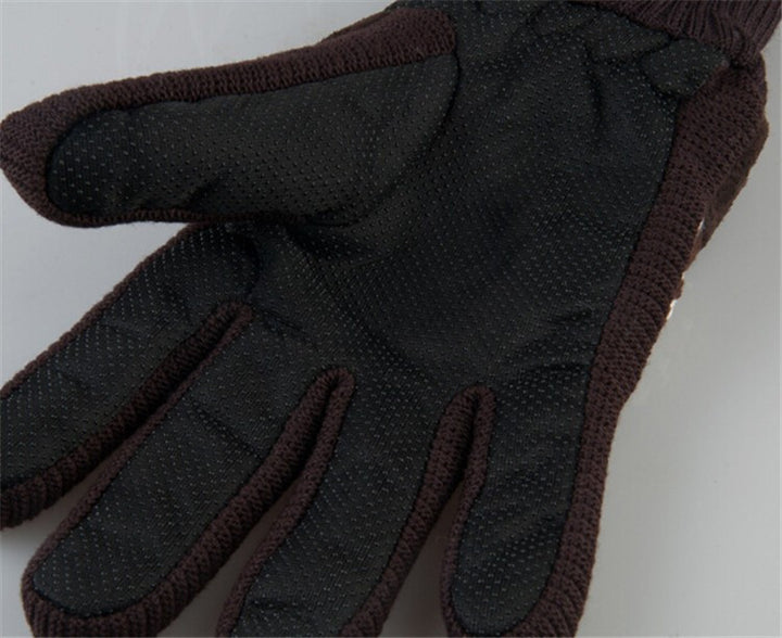 Winter Pig Leather Soft Wool Gloves For Men's - Zorket