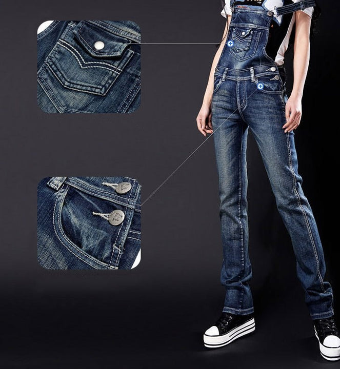Women's Spring/Autumn Denim Tight Overall