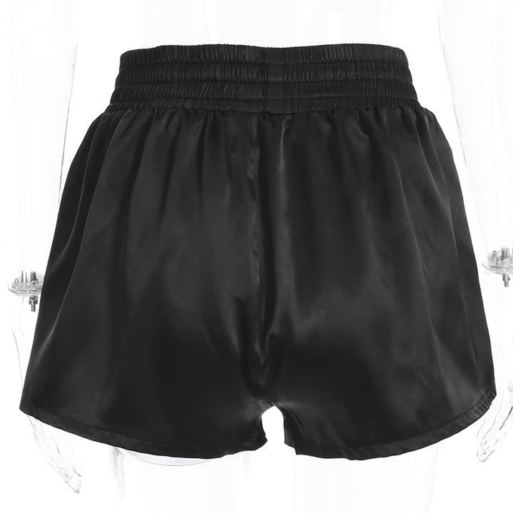 "Women's Summer High-Waist Loose Shorts With Embroidery ""Rock"""