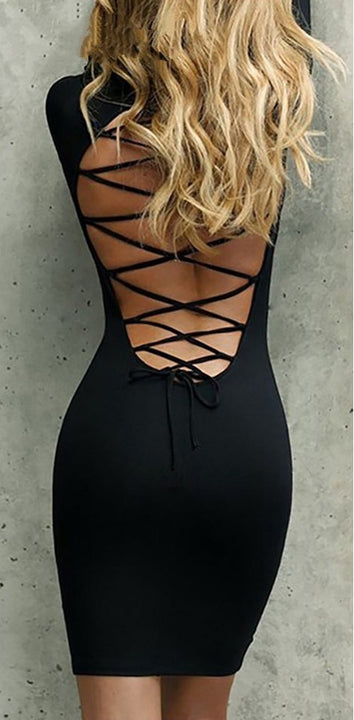Women's Spring/Autumn Long-Sleeved Stretchy Bandage Bodycon Dress