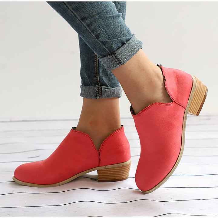 Women's Spring/Autumn Low-Heeled Ankle Shoes