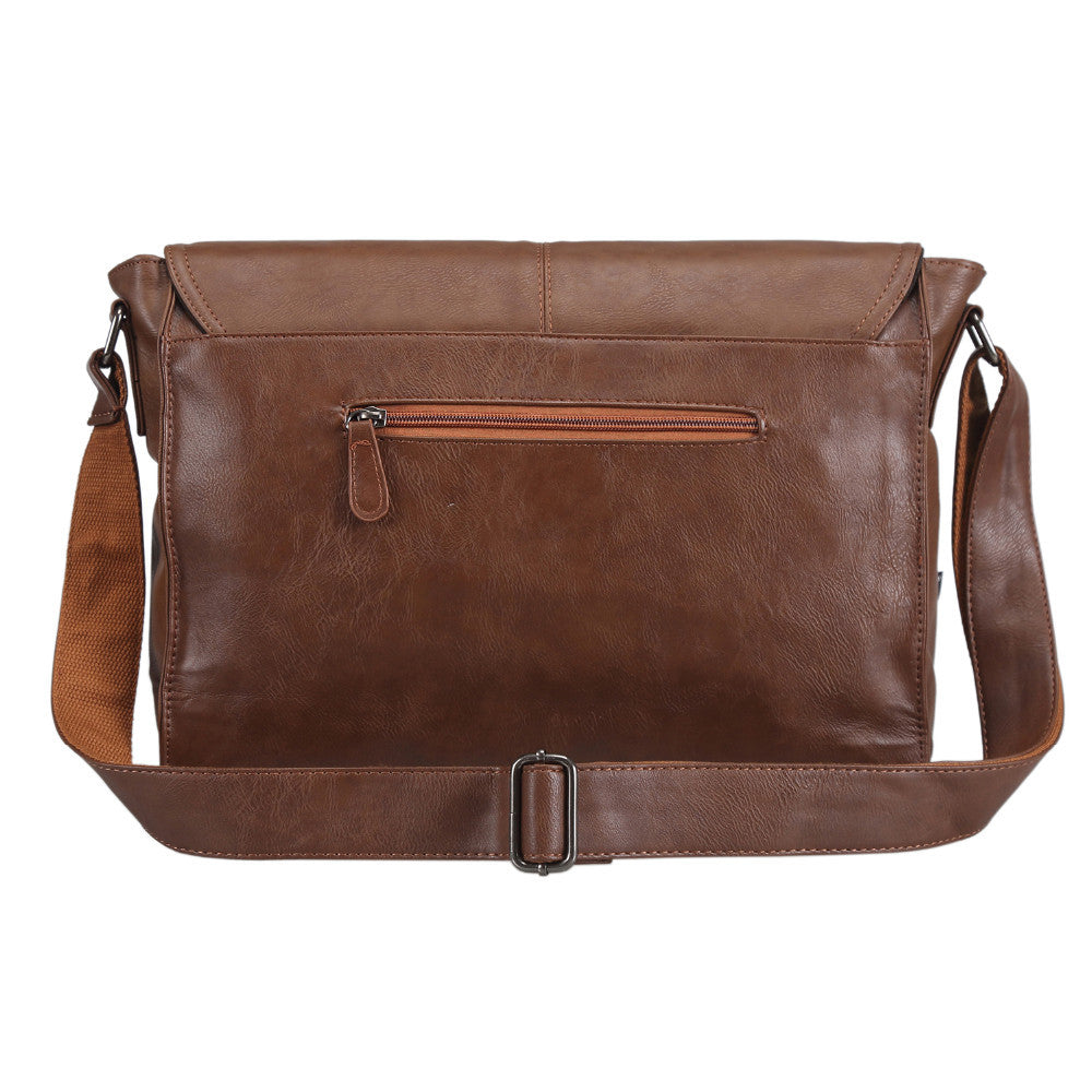 Men's Casual PU Leather Messenger Bag - Zorket