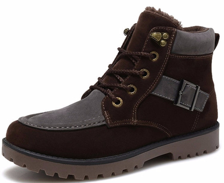 Autumn And Winter Warm Lace Up Men's Boots - Zorket