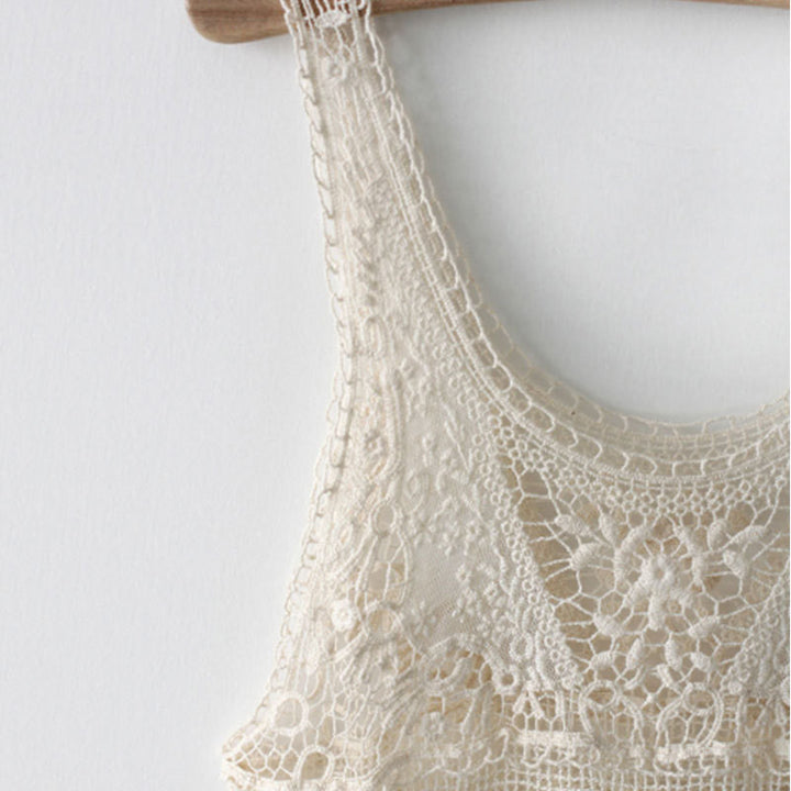 Tank Top – Knitted Tank Top With Lace | Zorket