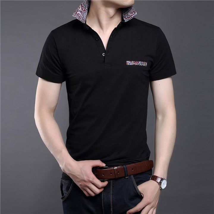 Men's 100% Cotton Slim Fit Short Sleeve T-Shirt