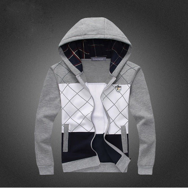 Hoodies & Sweatshirts – Men's Casual Fashion Plaid Slim Hooded Sweatshirt | Zorket