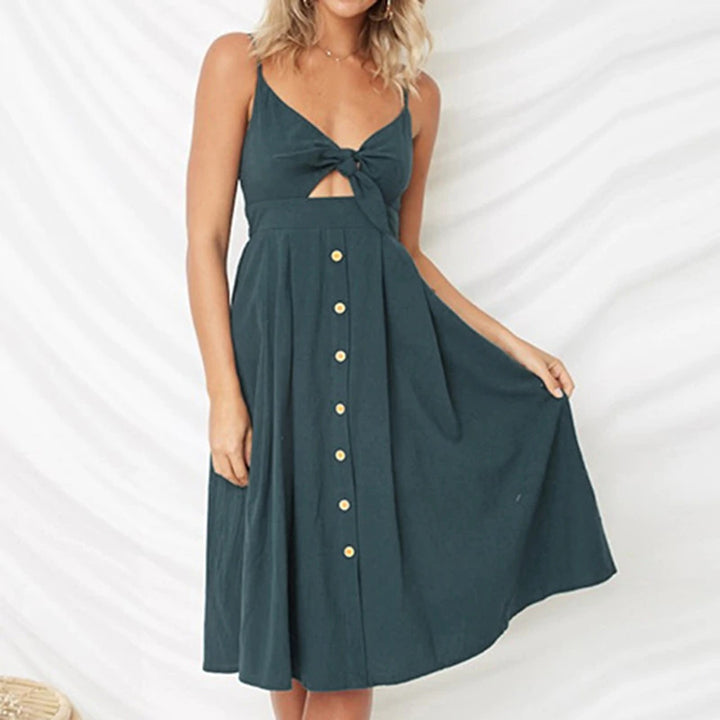 Women's Summer Backless V-Neck Dress