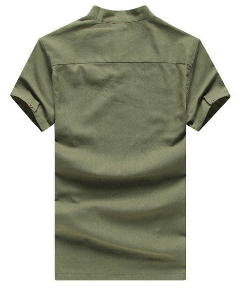 Short Sleeve Solid Color Men's Casual Polo - Zorket