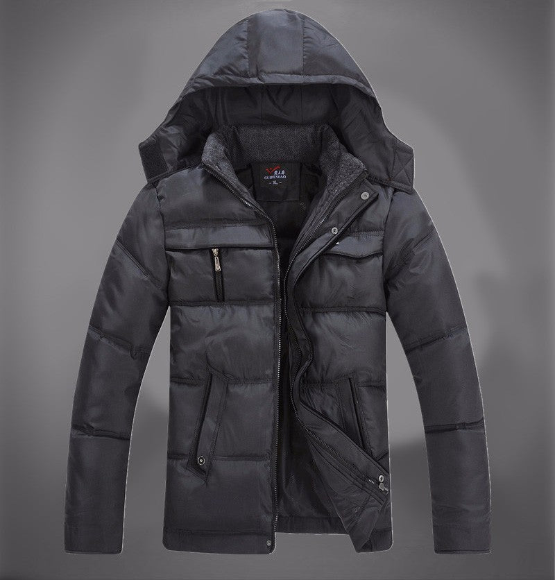 Men's Winter Thick Warm Down-Padded Multi-Pocket Parka