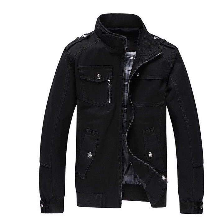 Men's Autumn/Winter Casual Jacket With Stand Collar | Men's Windbreaker