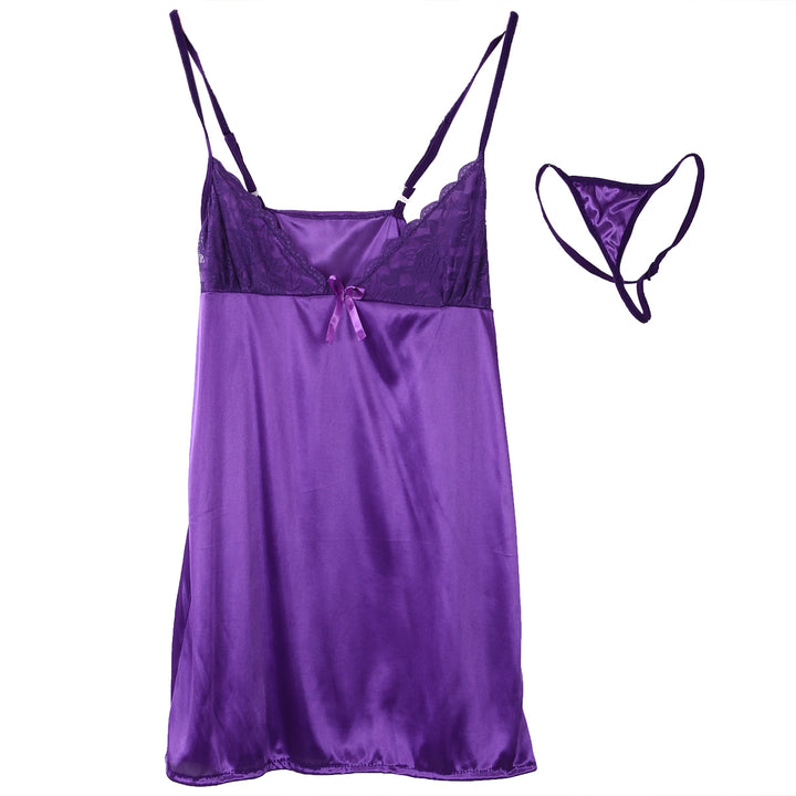 Women's Silk Satin Lace Nightgown