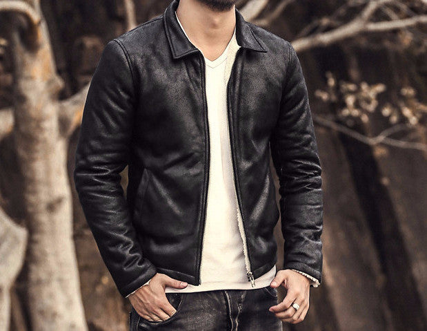 Stylish Men's Jacket Of Faux Leather - Zorket
