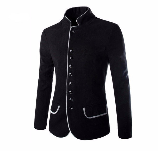 Blazer – Men's Casual Tunic Collar Blazer | Zorket