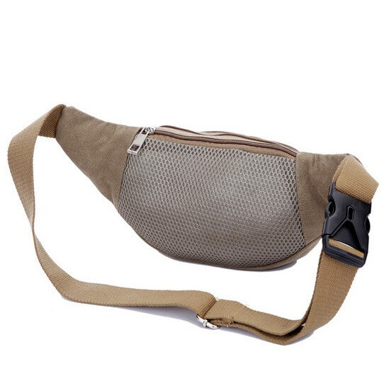 Multifunctional Men's Casual Solid Color Waist Pack - Zorket