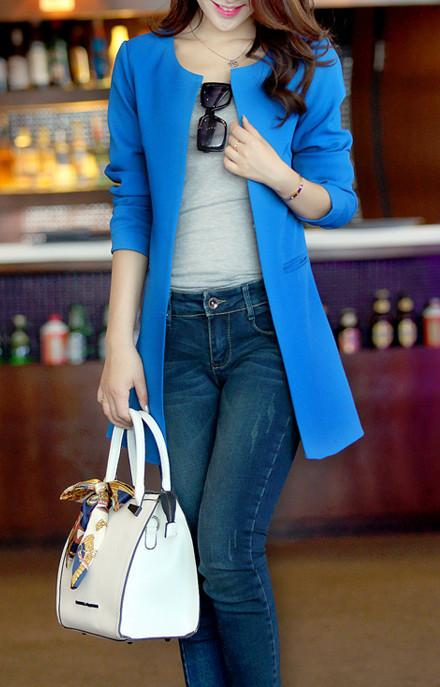 Women's Long Fashion Casual Blazer