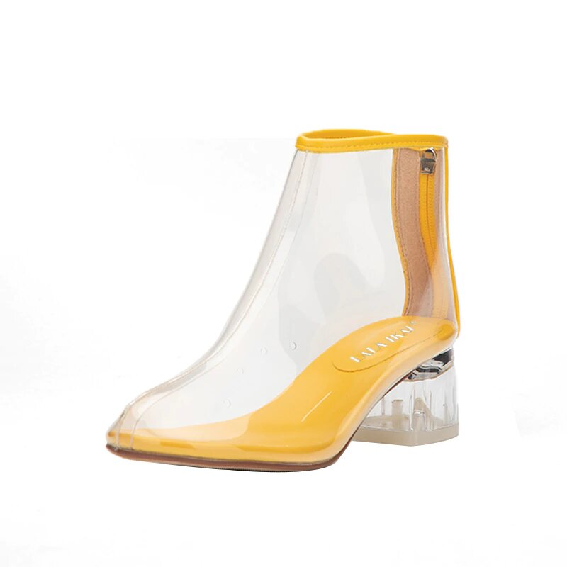 Women's Spring/Autumn PVC Transparent Rain Ankle Boots