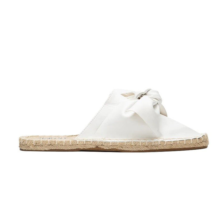 Women's Summer Flat Espadrilles With Butterfly-Knot
