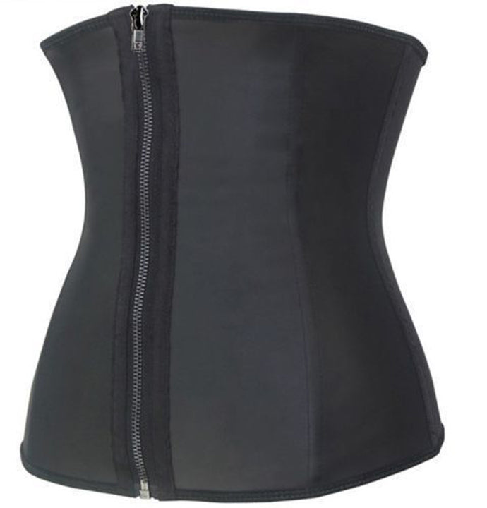 Women's Latex Corset With Zipper